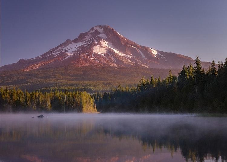 First-Light-On-Mount-Hood