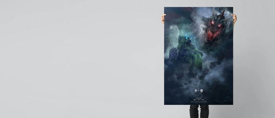 Vancouver Titans vs Shanghai Dragons | Poster