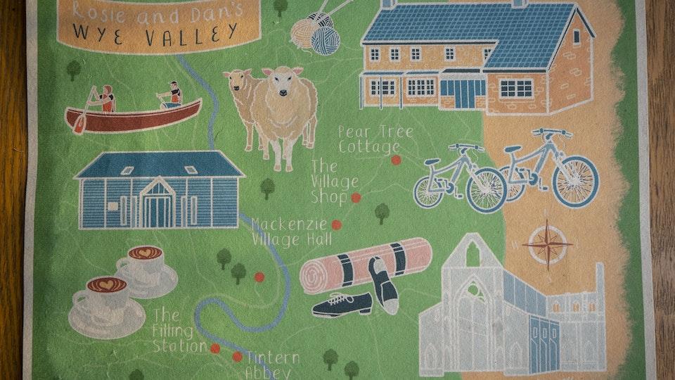 Wye Valley Map