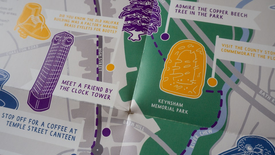 Illustrated Maps of Keynsham and Bedford for Historic England
