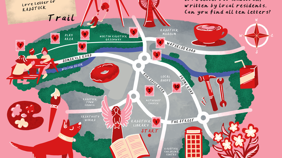 Love Letters to Radstock: Trail Map
