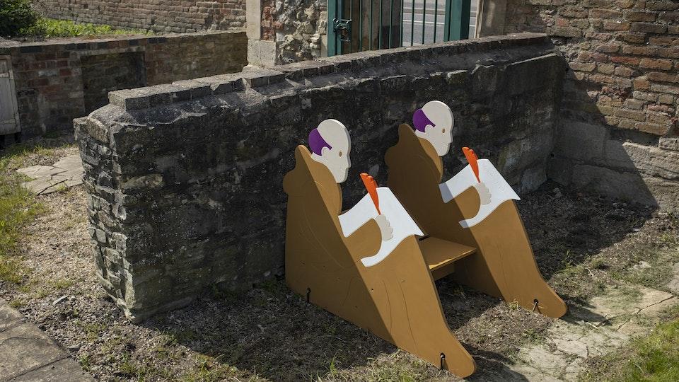 Illustrated History Trail at Llanthony Secunda Priory