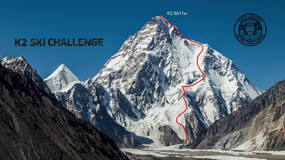 Andrzej Bargiel First Ski Descent from K2