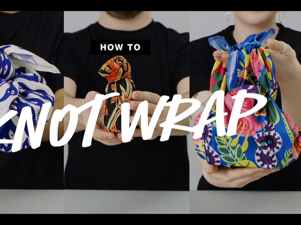 LUSH Cosmetics | How To Knot Wrap