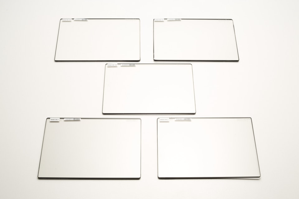 """5.65""""x4"""" Digicon Low Contrast Filter Set 1/8,1/4,1/2,1,2 -"""