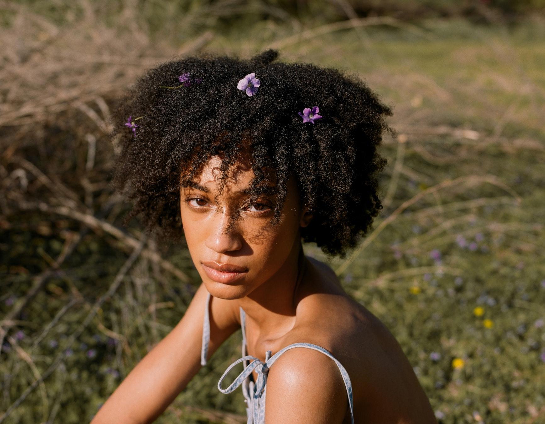 flowers in hair CROP