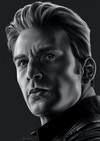 Black and White Character Portraits - Steve Rogers - Captain America