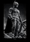 Batman Illustrations - The Dark Knight  Original greyscale drawing, made in Procreate.