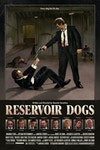 """Reservoir Dogs - Reservoir Dogs Poster Illustration  Illustrated components in Procreate, Adobe Photoshop and Adobe Illustrator. Assembly in Adobe Photoshop.  Created as part of Gallery 1988's exhibition """"Crazy4Cult 2021"""" – featuring artwork inspired by cult cinema.  Quentin Tarantino is one of my all time favourite directors, so I enjoyed the challenge of creating work to represent such a seminal piece of filmmaking. Reservoir Dogs is one of my favourite movies and I wanted to try and distill it down to one singular image as best as I could. With the majority of the movie taking place within the warehouse, similar to a stage play, I knew this would be my central location. I wanted to create a vertical slice of some of the major beats and story moments all in one scene - with the standoff between Mr. White and Mr. Pink representing the tension surrounding who is the rat. Mr. Orange bleeding out on the ramp as he is for a lot of the movie. Finally the tortured police officer strapped to a chair after being attacked by Mr. Blonde in the iconic scene. On the floor around him you will find references to this scene in the form of the police officers ear, Mr. Blonde's straight razor and his soda cup.  12 x 18 giclée prints on archival paper are available <a href=""""https://nineteeneightyeight.com/collections/cult15/products/sam-green-reservoir-dogs-print"""">directly from Gallery 1988</a>."""
