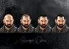 The Gift - Netflix Pitch - Hairstyle options for the Preacher.   The fade option (number 3) was my selected choice. Utilitarian, practical, period appropriate and stylish. This image was to showcase the range of options from shortest to longest.