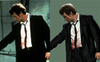 Reservoir Dogs - One of the challenges I faced with this piece was the quality of available reference. I found it quite difficult to find clear reference online and as such had to rely on a large amount of improvisation. Above here you can see the reference for Mr. White in this scene is blurry and lacks detail. The suit is almost completely silhouetted and his face is distorted making it impossible to pick out certain features.