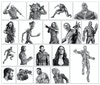Avengers Infinity War - The poster comprised of 18 individual drawings across 16 sheets (Thor & Black Widow and Bucky & Falcon were drawn together, as you can see in the photo below). All were drawn on A4 Bristol board with the exception of Spider-Man, Thanos and Iron Man - which were drawn at A3 size. The reason for this difference is I started with the larger size, wanting to pack in more detail but quickly realised that this would take up a lot more time in an already lengthy process.