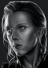 Black and White Character Portraits - Natasha Romanoff - Black Widow