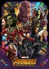 Avengers Infinity War - Infinity War Poster   Ink on bristol board, assembled and coloured in Adobe Photoshop.  Completed in early 2019, this was my first ever full poster illustration. I learned an insurmountable amount doing this, as would be expected on my first foray into this particular type of art. That said I was surprised quite how much I learned from making this. Some of the biggest lessons I learned were what <b>not</b> to do when making a poster, specifically a large scale collage style piece. It was a very valuable experience.  Speaking of what not to do, the piece was made by hand drawing 18 individual illustrations for each of the characters in meticulous detail. My main tools were my trusty 0.5 Pentel Sharplet pencil which I've used for years, and a combination of various grey-toned ProMarkers. This was a very long way of doing things, as I'd be spending hours drawing characters where the majority of the drawing would be covered up or obscured in the finished piece. The benefit of this however was being able to make several separate art pieces that I could colour and sell as prints separately, and post to social media to generate interest for the poster. Essentially, I was making 18 character posters simultaniously in what would culminate in one larger group poster - it was a very ambitious project to start out with, but I'm very happy that I pushed myself to do it.