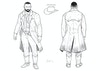 The Gift - Netflix Pitch - Line drawing turnaround of The Preacher. This was done to give a clearer look at the costume details as well as a look at the character from the back.