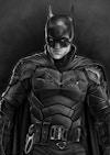 Batman Illustrations - The Batman  Original greyscale drawing, made in Procreate.