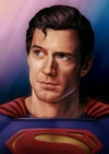 DCEU Illustrations - Superman - 'Hope'  Painted in Procreate on iPad Pro.  I wanted to convey a sense of warmth and sensitivity with this portrait, as should be present in the Superman character. I also included the classic curl of hair that is synonymous with the character in the comics.