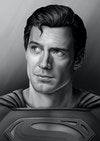 DCEU Illustrations - Original greyscale drawing before colouring.