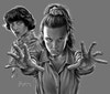 Stranger Things - Due to the nature of Procreate having a maximum canvas size limit, the poster was predominantly drawn in two sections and then stitched together in Adobe Photoshop.