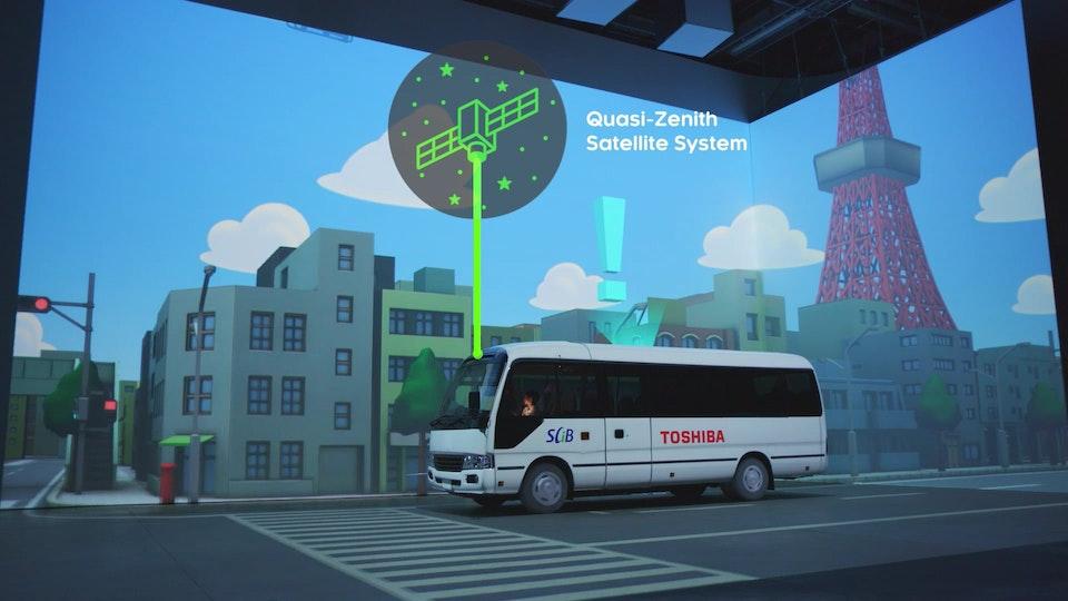 TOSHIBA Electric Bus Tours_Virtual Reality & Video Mapping