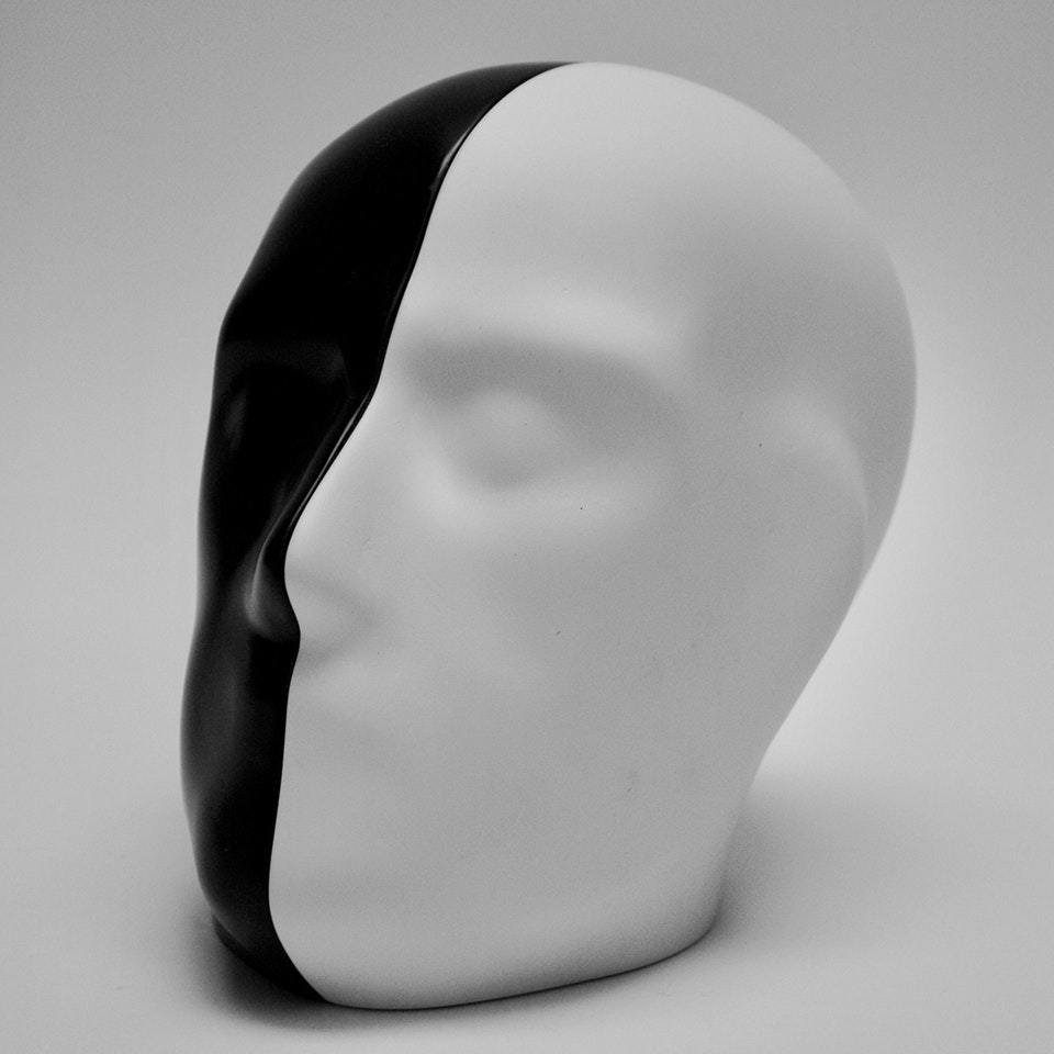 Richard Mackness - Black and White Head