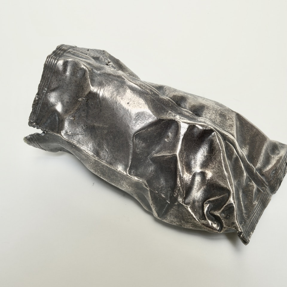 Richard Mackness - Bronze crisp packet