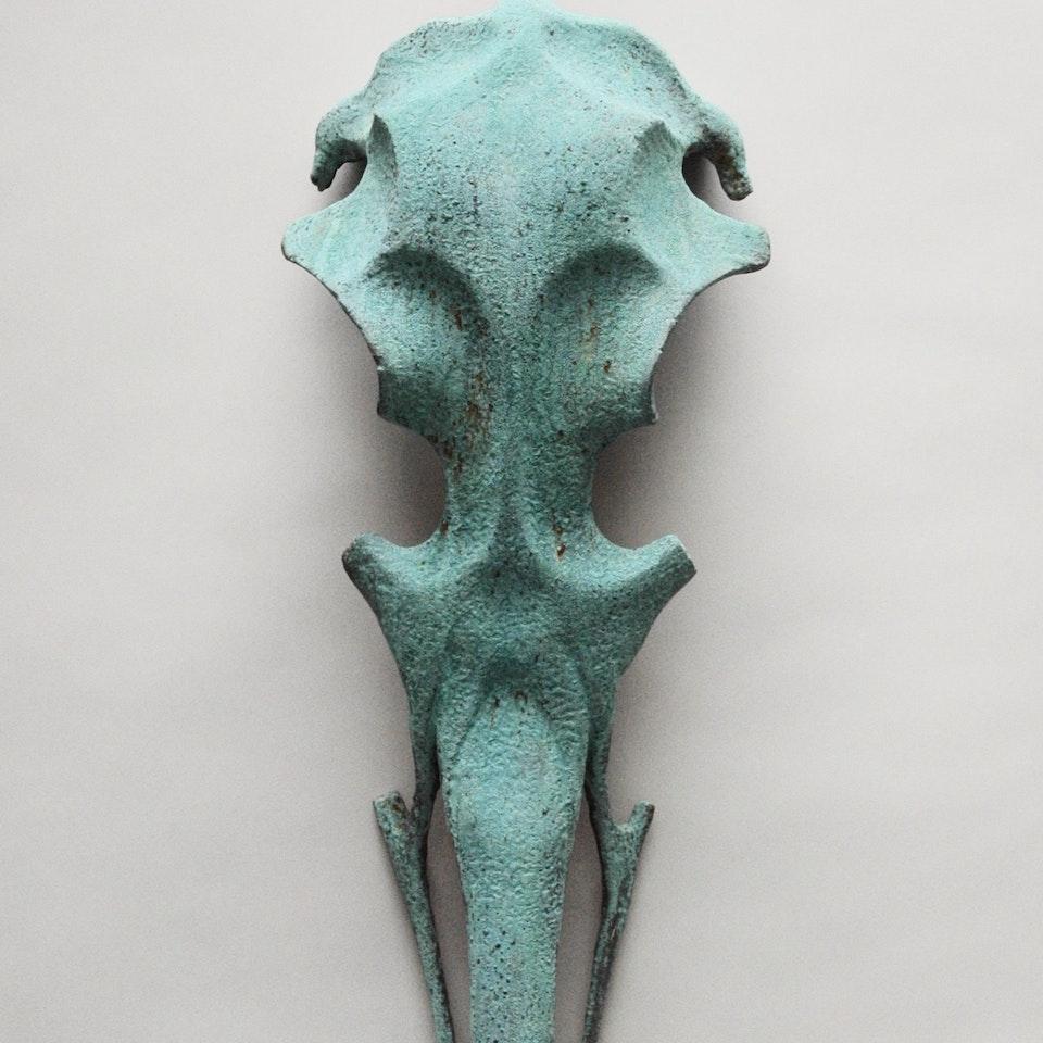 Richard Mackness - Verdigris Bird Skull