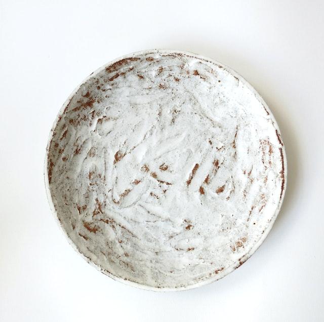 White Scrape plate