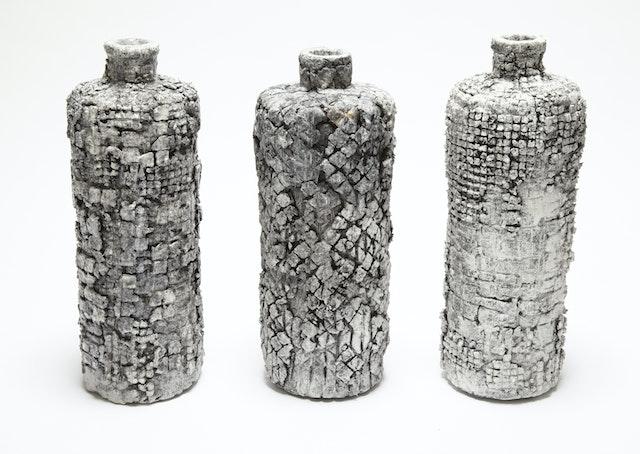 Patchwork bottles -Lisa Stockham