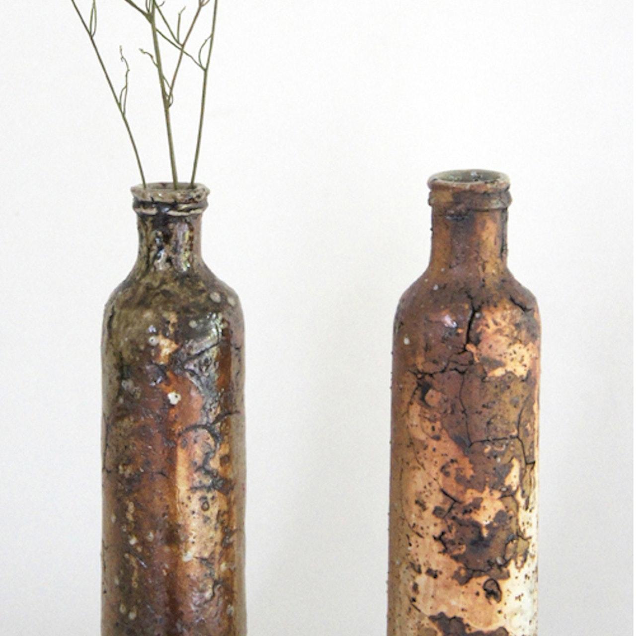 Shigaraki tall bottles