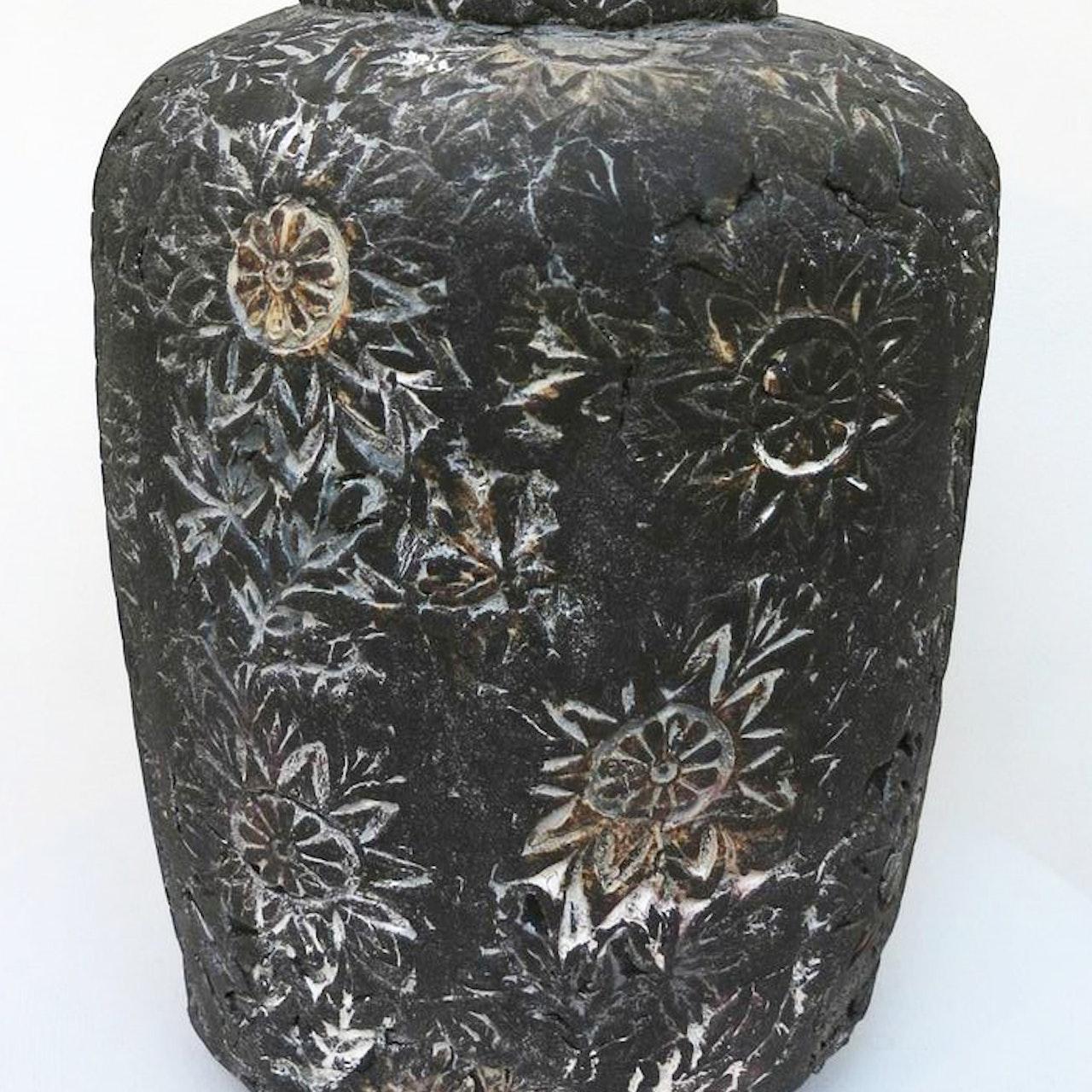 Floral Press Pot black