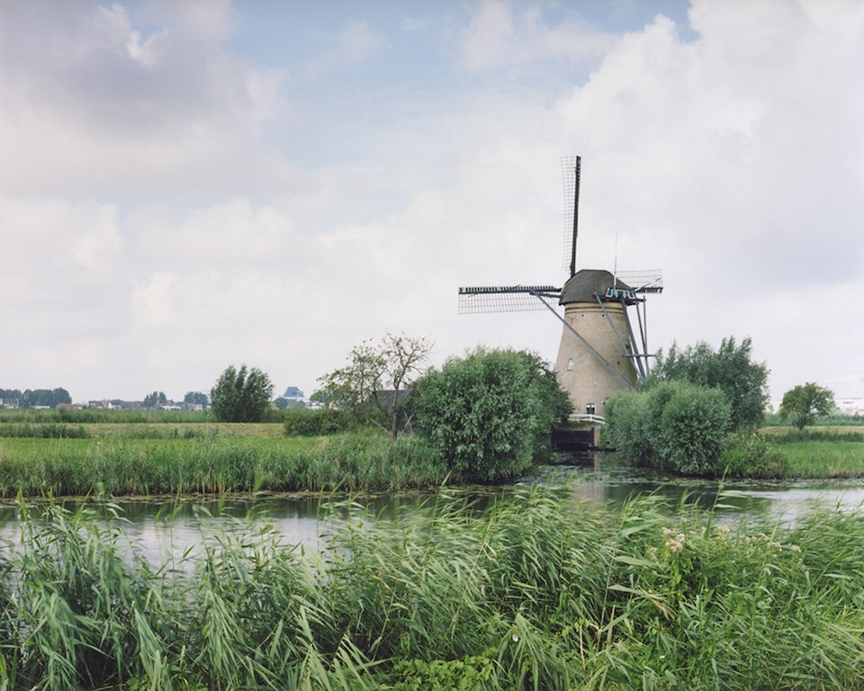 Anthropocène - Paysage hollandais - Moulin vers Kinderdijk, 2007 (48x60cm)