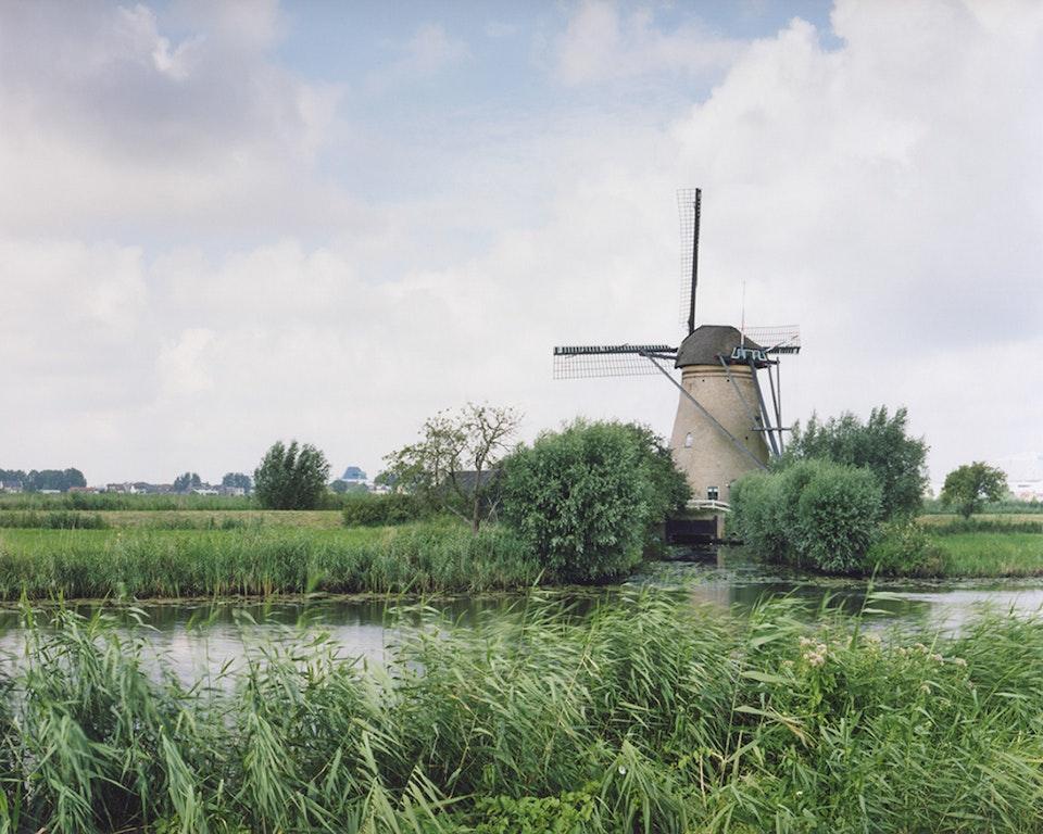 Anthropocène - Paysage hollandais - Moulin vers Kinderdijk, 2007 (48x60cm)
