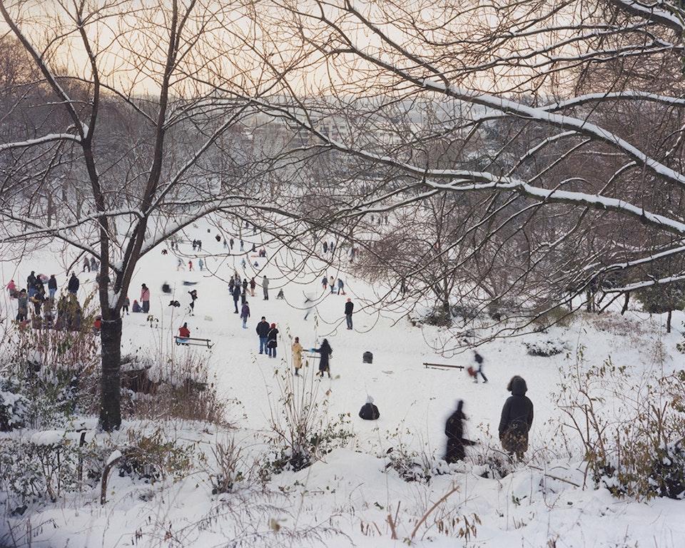 Anthropocène - Paysage bruxellois - Parc de Forest sous la neige, 2010 (100x125cm)