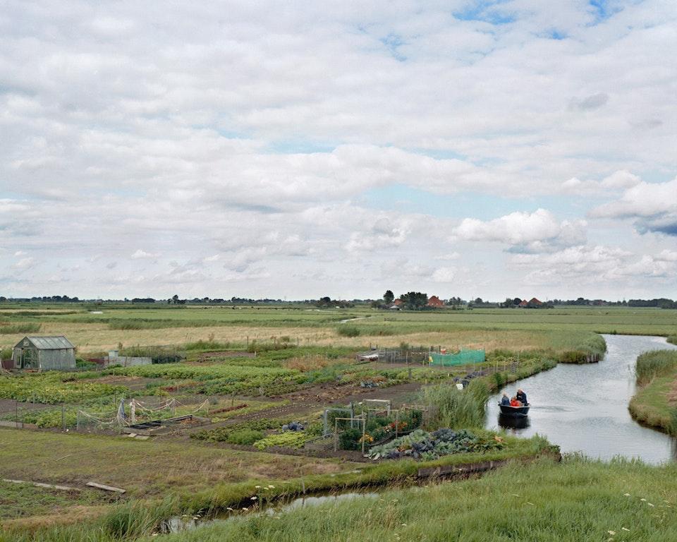 Anthropocène - Paysage hollandais avec barque, 2007 (48x60cm)