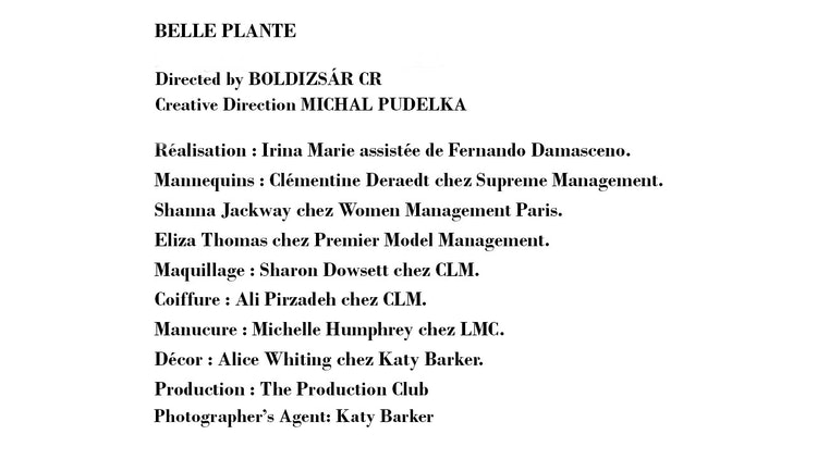 BELLE PLANTE for NUMERO MAGAZINE