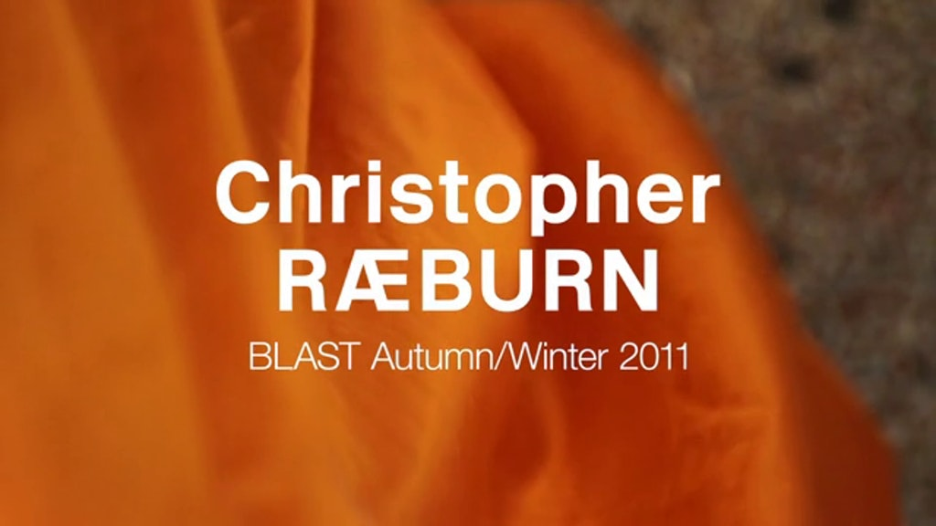 Christopher Raeburn Show