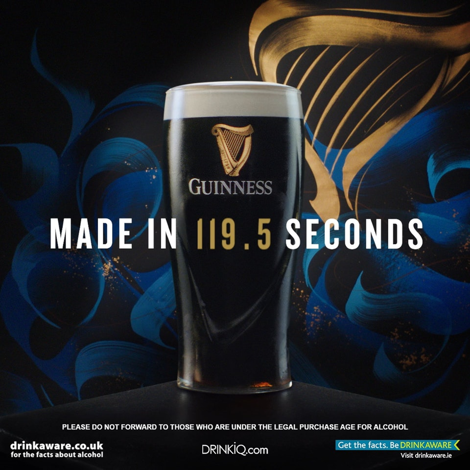 Guinness - Made In 119.5 Seconds Guinness - Made In 119.5 Seconds CALLIGRAPHY