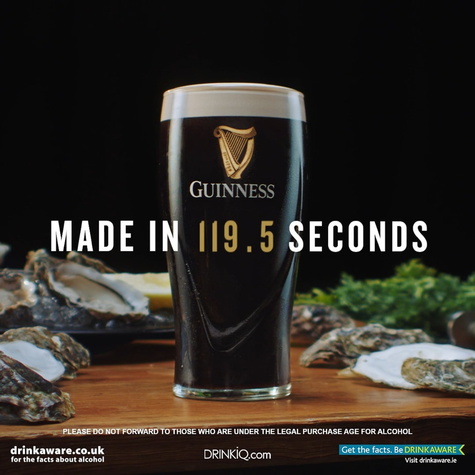 Guinness - Made In 119.5 Seconds Guinness - Made In 119.5 Seconds OYSTER