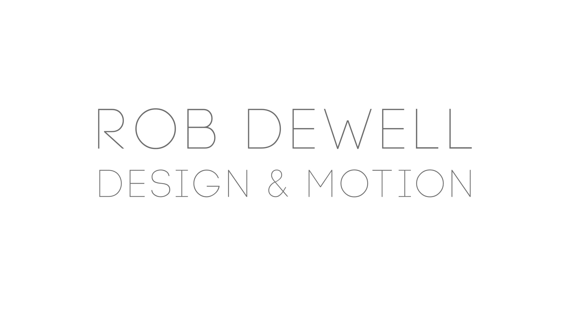 ROB DEWELL SHOWREEL 2020