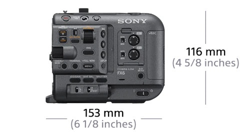Sony FX6 dimensions