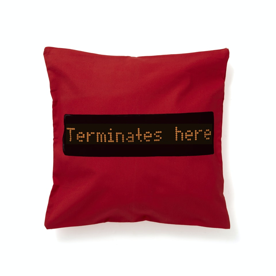 London Transport Museum terminateshere cushionNEWFLAT