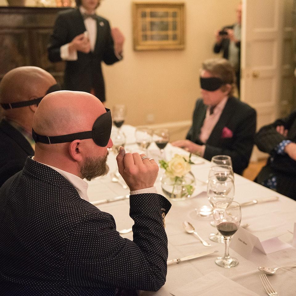 Blue Plaque plates launch, Freud Museum blindfolds_lo res