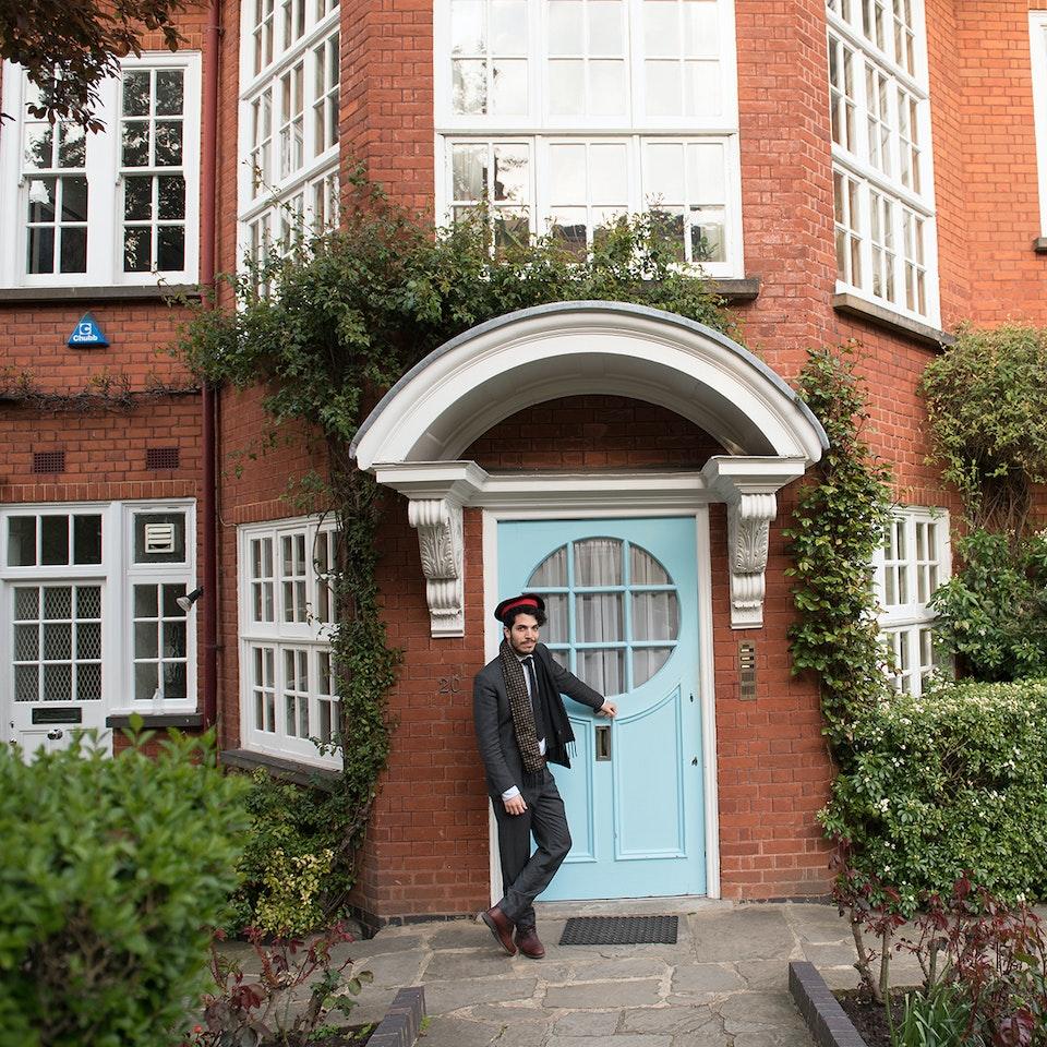 Blue Plaque plates launch, Freud Museum doorman