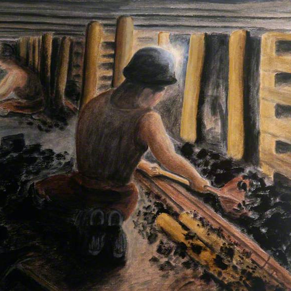 Museumaker Arts Council commission for Woodhorn Colliery & Archive NEWNEW KILBOURN PAINITNG