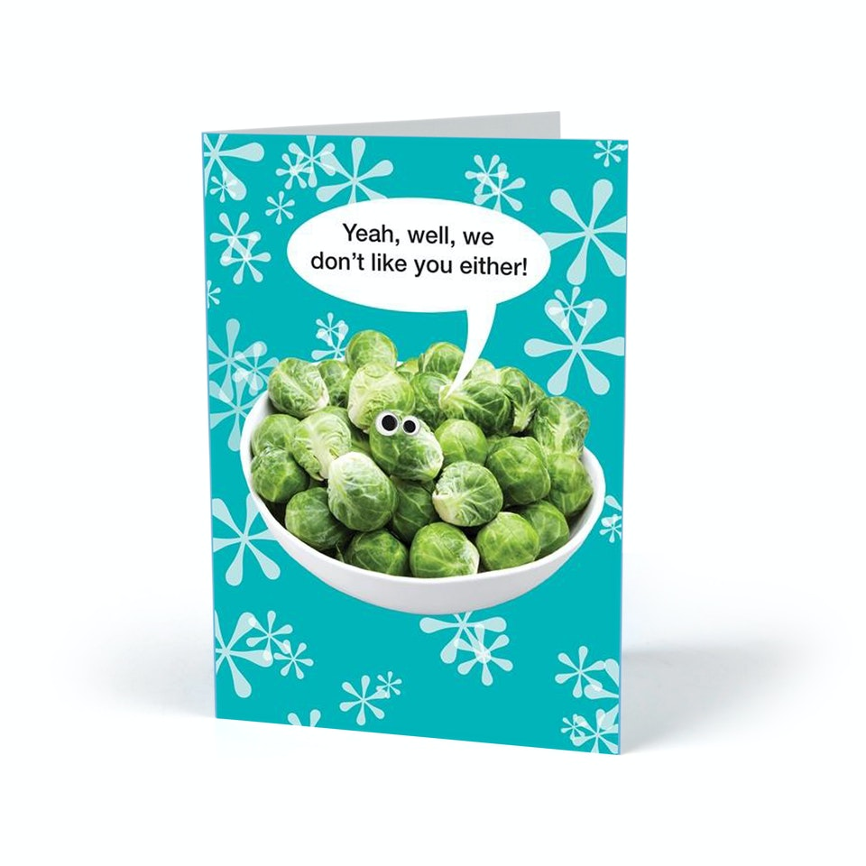 Kiss Me Kwik sprouts actual card