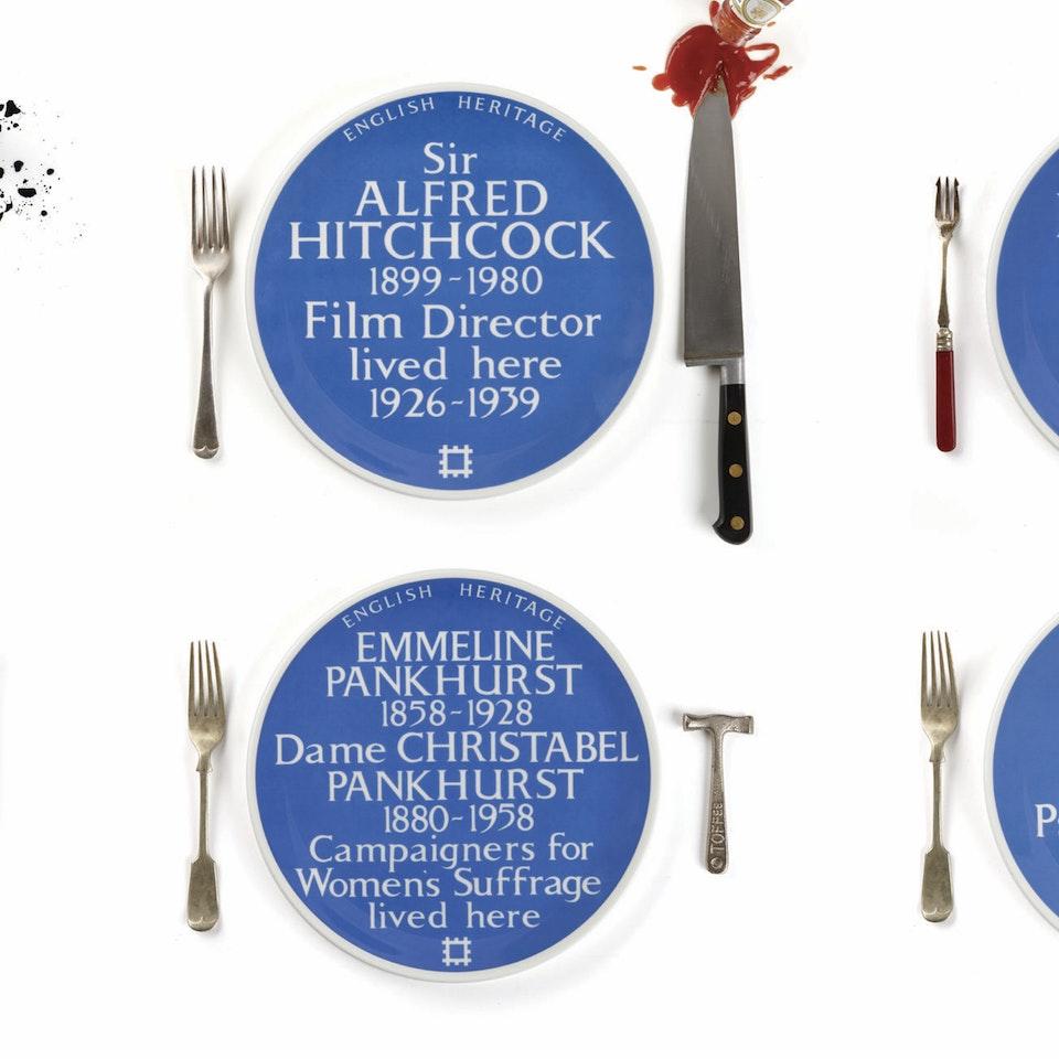 Blue Plaque plates launch, Freud Museum Allwith props