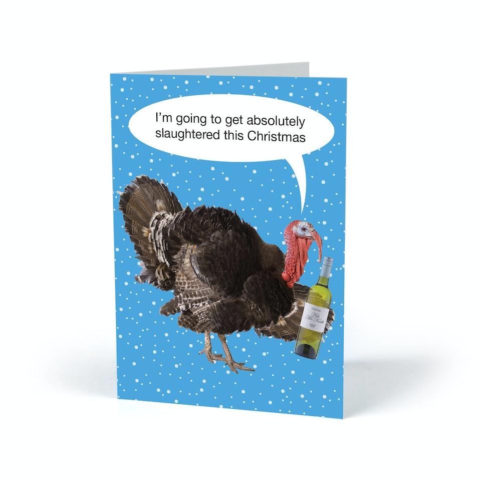 Kiss Me Kwik turkey actual card