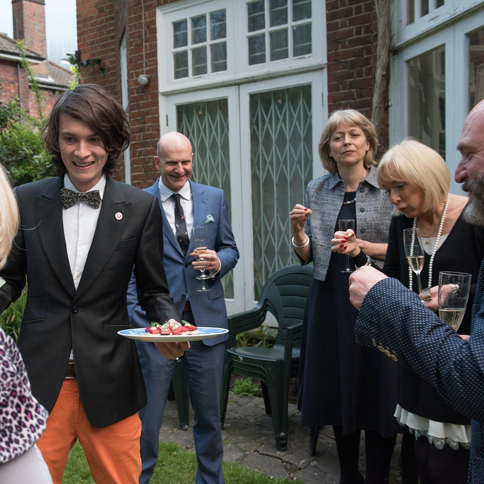 Blue Plaque plates launch, Freud Museum eating red herrings