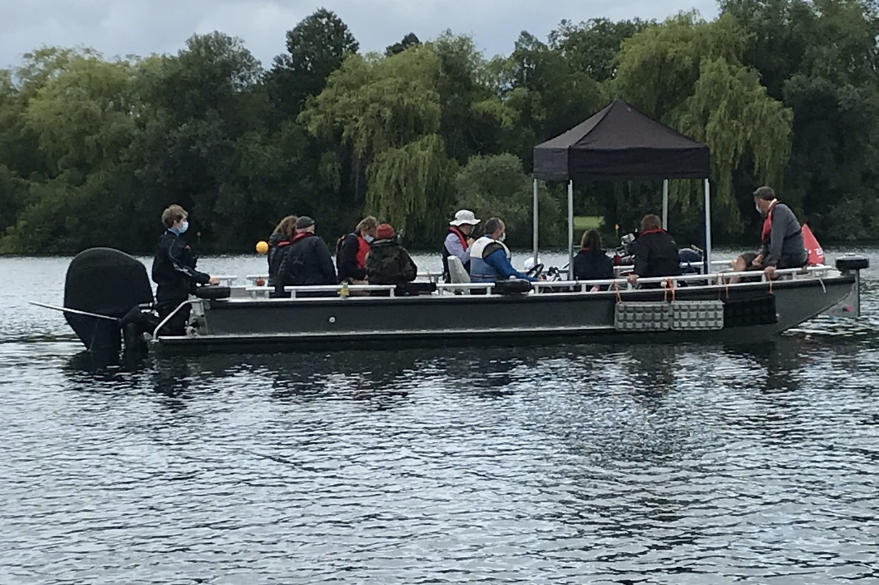 Cesar (TVC) - Large Camera Boat with 5' Ezy-Up on Shepperton Lake